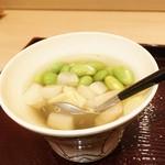 53240212 - 枝豆 ホワイトアスパラ 毛蟹