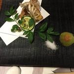 枝魯枝魯 - 揚げ物(じゃこだっけ?)メロンの漬物