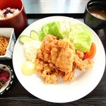 玉乃家 - 唐揚げ定食