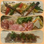 Osteria Due - 鎌倉野菜、生ハムサラミ、鰹