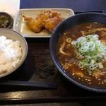 53253735 - 『カレーうどん&鶏天ご飯付き定食』 880円