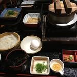 """よし平 - 名物の串本の""""梅真鯛""""を使った鯛茶漬け うまい"""