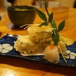日本料理里乃や - ズッキーニのチーズはさみ揚げ