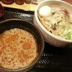 麺屋しみる - 【限定】冷やしピリ辛味噌つけ麺2016.7.7