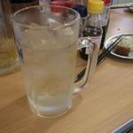 晩杯屋 - かちわりトンボブドー酒は甘い