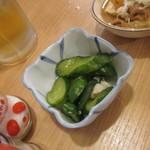 晩杯屋 - ミョウガ胡瓜