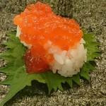 無添くら寿司 - 手巻き紫蘇イクラ