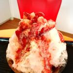 シャロン - 料理写真:いちごのかき氷500円です。