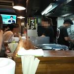 尾道文化ラーメン - 店内カウンター8席ほどです♪
