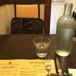 イルチッチォーネ - お水とブリーフケース(私物)