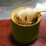 ニテコ名水庵 - 竹の器もいい。