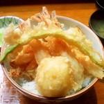 53281564 - ランチの「塩天丼」(1,300円)