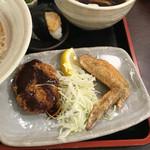 みやび - 名古屋盛りセット 手羽先、味噌カツ、天むす