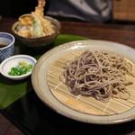 七里庵 - ざる膳 (十割ざる + 小天丼)☆