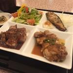 牛右衛門 - 洋風おはし御膳  お肉も魚もおいしく頂きました (*´ڡ`●)