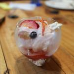 グランブルー - 桃の淡雪氷にトマトのコンポート☆