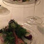 53289488 - Antipasto freddo 冷菜、ボタン海老、佐島のタコ、アオリイカ、コロダイのサラダ仕立て