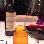 TreMonte - コースの出ている間は料理に合ったワインを出してもらう。