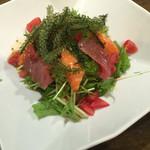 soul of okinawa 海の彼方 - 海ぶどう入り海鮮サラダ