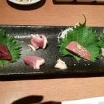 Jidorisumiyakibansan - 鳥刺し盛り合わせ