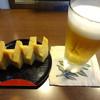 すし処 蔵 - 料理写真:グラスビールと厚焼き玉子です