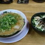 珍遊 - チャー丼定食(880円)+ねぎまよビーム(+100円)