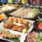 酒・蕎麦 田治 - 宴会のお料理は季節の食材を大切にしています。
