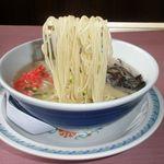 九州筑豊ラーメン 山小屋 - 麺
