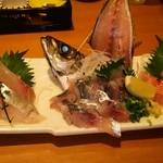 寿司割烹 豊 - 金目鯛、アジ、しまあじ