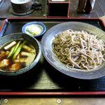 蕎麦喰い処 利めい庵 - 地鶏せいろ(1,180円)