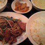 5331692 - レバニラ炒め定食