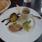 ミラコロ - 前菜の盛り合わせ 小さなスープとともに