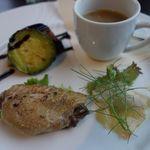 ミラコロ - バルサミコをきかせた野菜 ブダイのカルパッチョ 手羽の煮込み