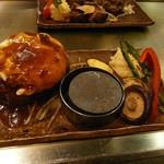 きゅうろく鉄板焼屋 香里園 - デミグラス+目玉焼+野菜増量の『王道コンボ』¥1,296(税込1,400)
