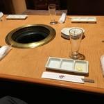 信州焼肉 NAMSAN - テーブルセット