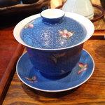 遊茶 - 針で釉薬に模様を描いた蓋碗