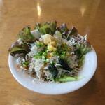 レストラン四季菜 - しらすのサラダ
