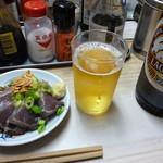 53314903 - カツオたたき&瓶ビール