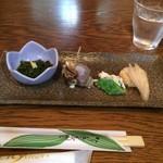 じんだんぼ - ディナーコースの前菜。       美味し。