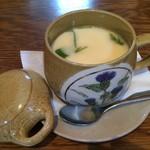 じんだんぼ - ディナーコースの茶碗蒸し。       うまし。
