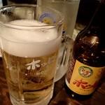 立呑みパラダイス - ホッピーonキンミヤ;5:1, with No Ice, No Stir!!  (ホントは3:1が好きッ!w) @2016/07/09