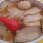 どうとんぼり神座 - 料理写真:半チャーシュー煮玉子ラーメン
