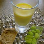 イタリアンレストラン Zucca - トウモロコシのムース、枝豆ゼリー寄せ、レバーペースト