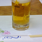 いろは亭 - 生ビール 中(630円)