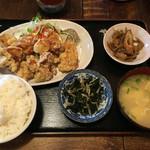 てんてん亭 - 唐揚げ定食