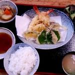 どんぐり - 天麩羅定食 1300円
