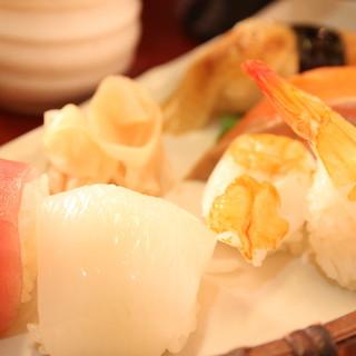 鮮度抜群!素材にこだわる水天の寿司!