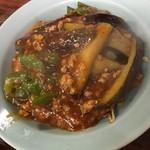 中国料理 東華園 - 麻婆茄子焼きそば/全景