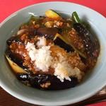 中国料理 東華園 - ご飯たっぷり麻婆茄子丼