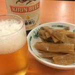 53328398 - ビール430円                       メンマ120円